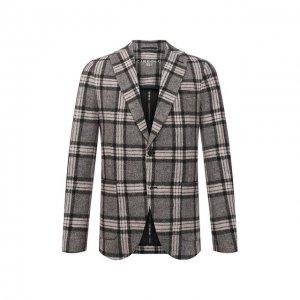 Хлопковый пиджак Circolo 1901. Цвет: бежевый