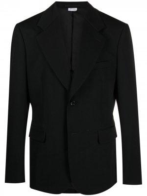 Однобортный пиджак Comme Des Garçons Homme Plus. Цвет: черный