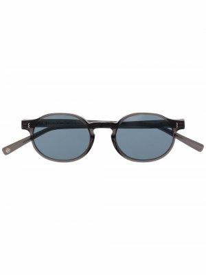 Солнцезащитные очки Finch в круглой оправе Eight & Bob. Цвет: серый