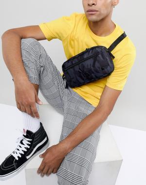 Камуфляжная сумка-кошелек на пояс New Era. Цвет: черный