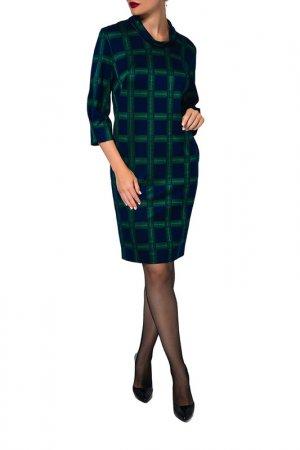 Платье Caterina Leman. Цвет: зеленый, темно-синий (06/15)