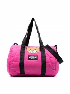 Teddy Bear-print changing bag Moschino Kids. Цвет: розовый