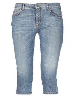 Джинсовые брюки-капри McQ Alexander McQueen. Цвет: синий