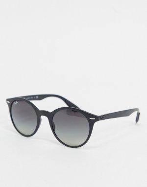Черные солнцезащитные очки в круглой оправе Ray-ban ORB4296-Черный