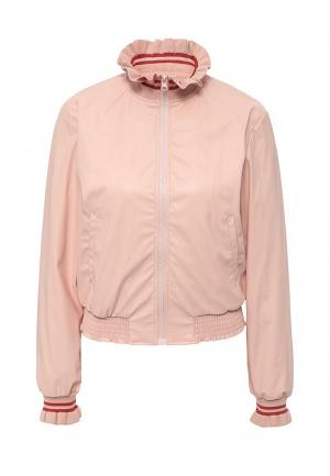 Куртка кожаная Pinko PI754EWOID55. Цвет: розовый