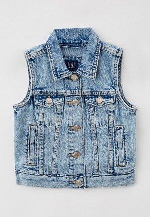 Жилет джинсовый Gap. Цвет: голубой