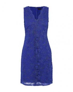 Короткое платье DONNA KARAN. Цвет: синий
