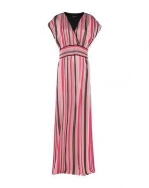 Длинное платье ATOS LOMBARDINI. Цвет: розовый