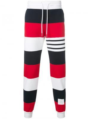 Классические спортивные брюки в полоску Thom Browne. Цвет: разноцветный