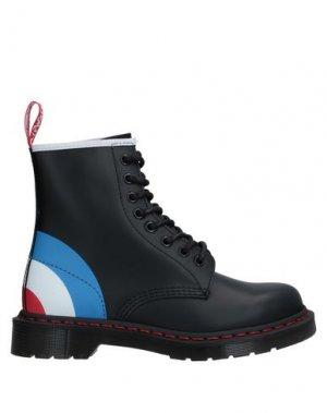 Полусапоги и высокие ботинки DR. MARTENS. Цвет: черный