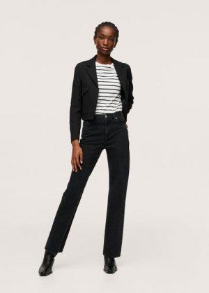 Прямые джинсы с посадкой на талии - Gala Mango. Цвет: черный деним