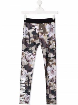 TEEN camouflage-print fleece leggings Dkny Kids. Цвет: зеленый