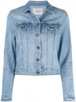 Укороченная джинсовая куртка Dondup. Цвет: синий