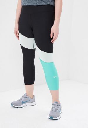 Капри Nike W NK PWR CROP TIPOLY VNR EXT. Цвет: разноцветный