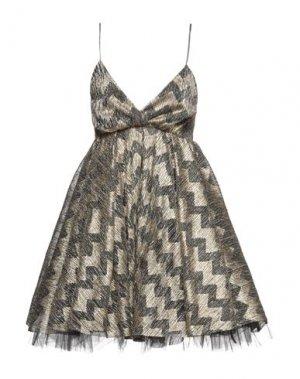 Короткое платье ANIYE BY. Цвет: золотистый