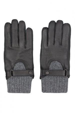 Перчатки Eleganzza. Цвет: черный, серый, шерсть