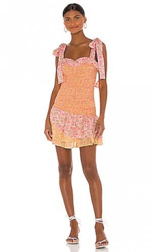 Мини платье aya LoveShackFancy. Цвет: розовый