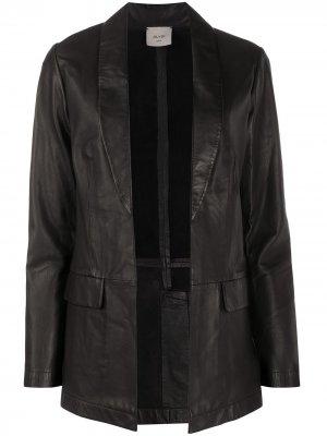 Фактурная куртка-блейзер Alysi. Цвет: черный