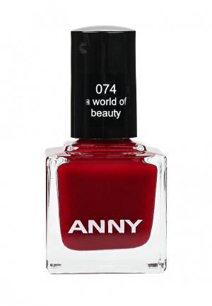 Лак для ногтей Anny тон 74. Цвет: красный