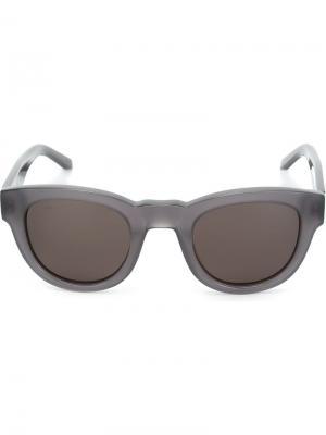 Солнцезащитные очки Type 04 Sun Buddies. Цвет: серый
