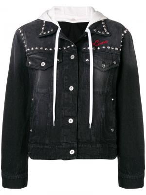 Джинсовая куртка с цветочной отделкой Miu