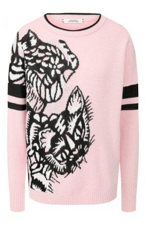 Пуловер из смеси шерсти и кашемира Dorothee Schumacher. Цвет: светло-розовый