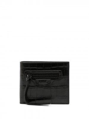Кошелек Neo Classic с тиснением Balenciaga. Цвет: черный