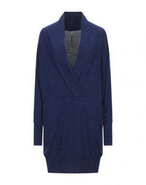 Короткое платье PIERANTONIO GASPARI. Цвет: темно-синий