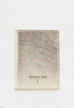 Обложка для паспорта Patrizia Pepe. Цвет: золотой