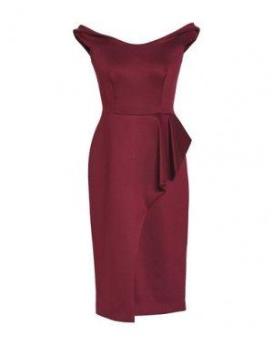 Платье до колена BLACK HALO EVE by LAUREL BERMAN. Цвет: красно-коричневый