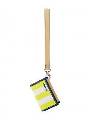 Маленький кошелек с ремешком на запястье Sunnei. Цвет: зеленый