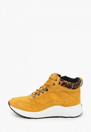 Ботинки Caprice увеличенная полнота H, Comfort. Цвет: желтый