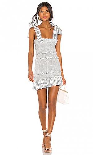 Платье belle LoveShackFancy. Цвет: белый