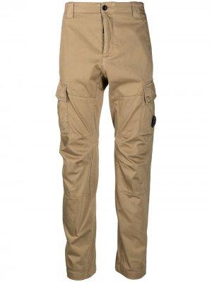 Прямые брюки средней посадки C.P. Company. Цвет: нейтральные цвета
