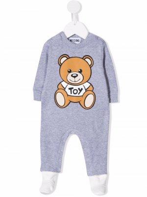 Teddy Bear long-sleeve pajamas Moschino Kids. Цвет: серый