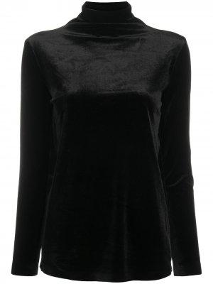 Топ с высоким воротником и длинными рукавами Norma Kamali. Цвет: черный