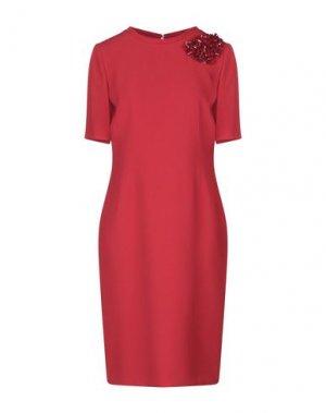 Платье до колена BOTONDI MILANO. Цвет: красный