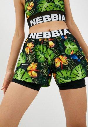 Шорты спортивные Nebbia. Цвет: разноцветный