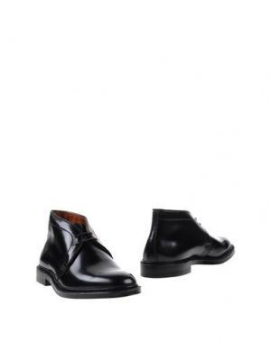 Полусапоги и высокие ботинки ALDEN. Цвет: черный
