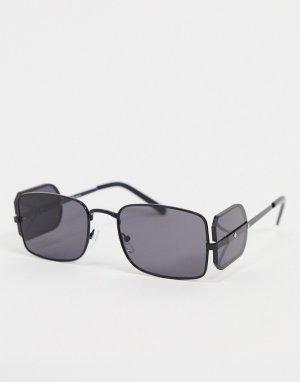 Черные солнцезащитные очки со вставками по бокам -Черный цвет Jeepers Peepers