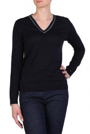 Пуловер с контрастной отделкой Tommy Hilfiger