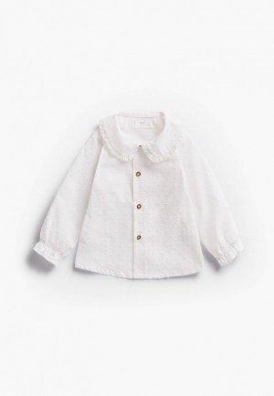 Рубашка Mango Kids DIANE. Цвет: белый