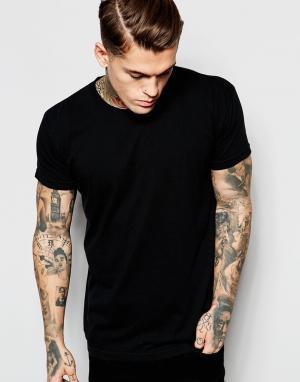 Выбеленная футболка American Apparel. Цвет: черный