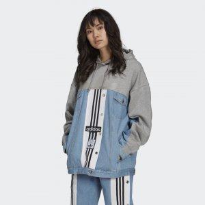 Джинсовая куртка Originals adidas. Цвет: серый