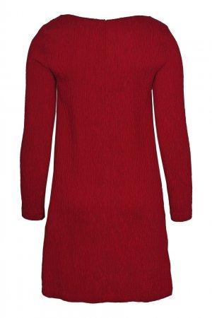 Красное платье-мини из жатого трикотажа 1-One. Цвет: красный