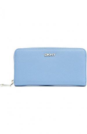 Портмоне DKNY. Цвет: голубой