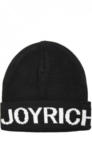 Вязаная шапка с логотипом бренда Joyrich. Цвет: черный