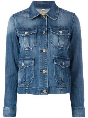 Джинсовая куртка с передними карманами Michael Kors. Цвет: синий