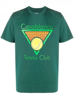 Футболка Tennis Club Icon Casablanca. Цвет: зеленый