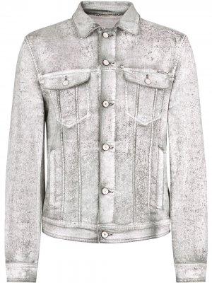 Джинсовая куртка с нашивкой-логотипом Dolce & Gabbana. Цвет: серый